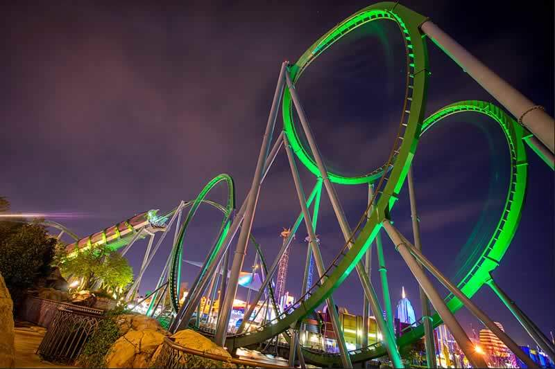 parque universal islands of adventure montanha-russa hulk