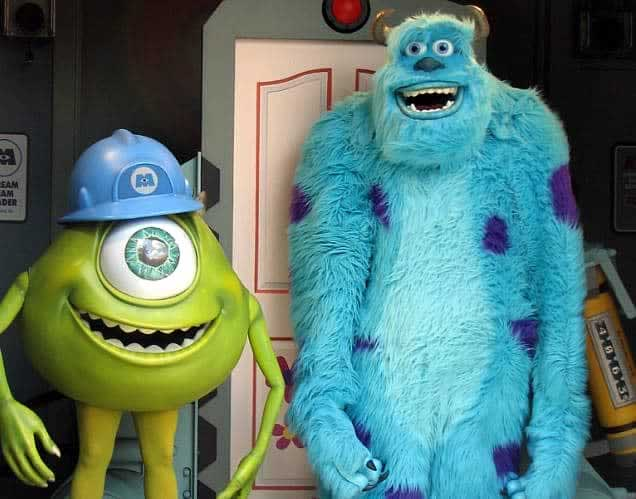 Personagens Mike e Sulley do Monstros S.A. no Hollywood Studios