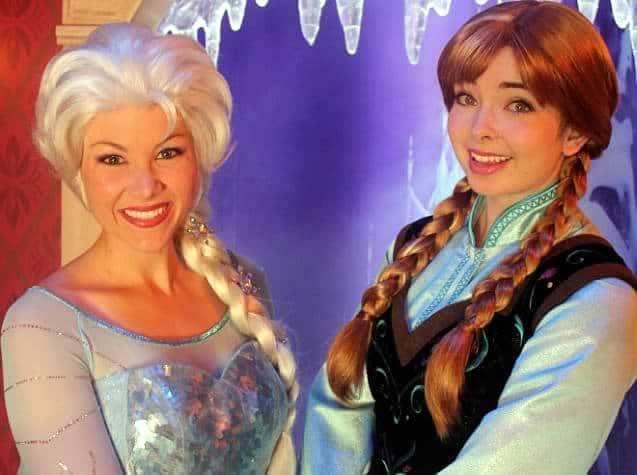 Princesas Elsa e Anna no Epcot Noruega
