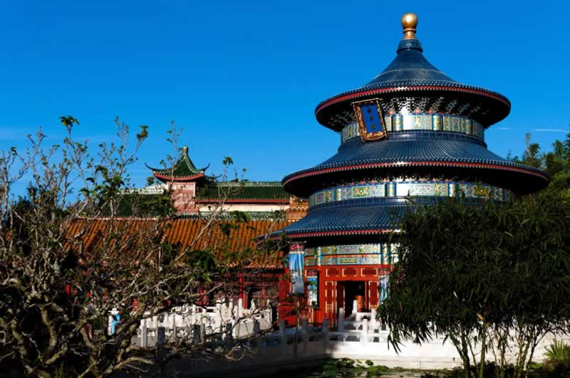 arquitetura do pavilhão da china no epcot