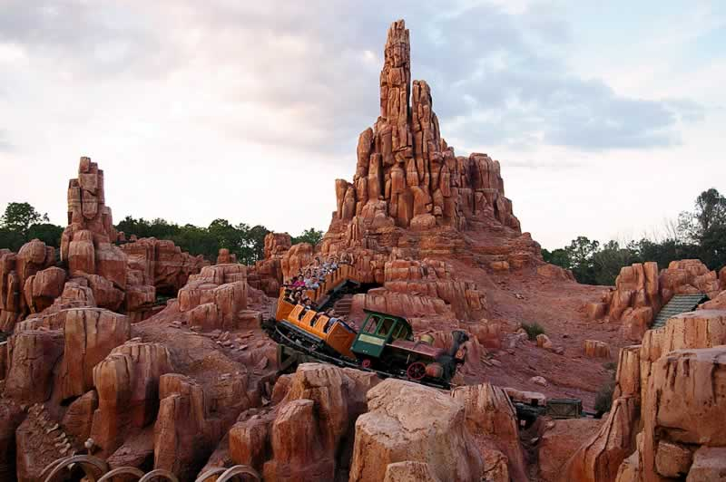 big thunder mountain na frontierland no magic kingdom