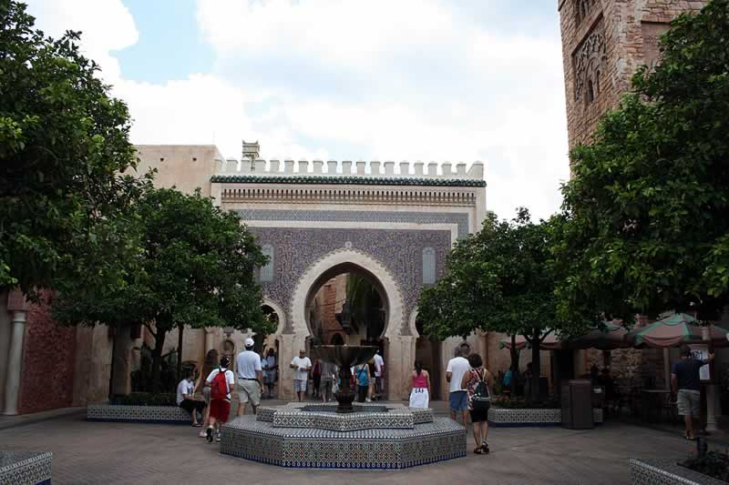 entrada do pavilhão do marrocos no epcot