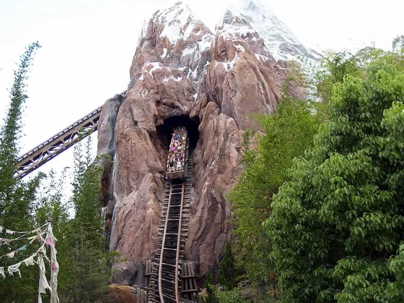 montanha-russa everest no parque animal kingdom da disney