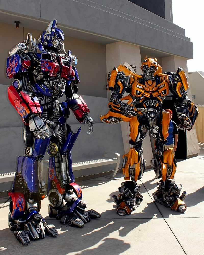 personagens transformers universal studios