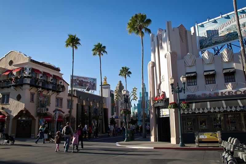 rua hollywood boulevard do parque hollywood studios disney